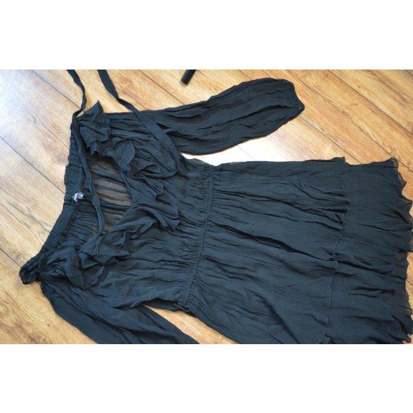 Wunderschönes Volant Kleid Gr. 38 von Farina Opoku schwarz