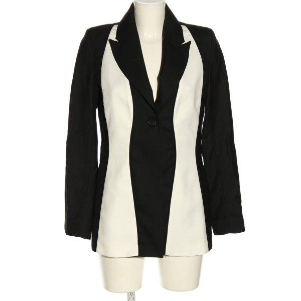 Wynn Hamlyn Long-Blazer schwarz-weiß Business-Look