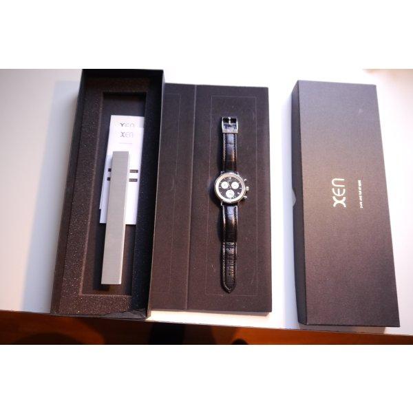 XEN Uhr Chronograph schwarz Lederarmband