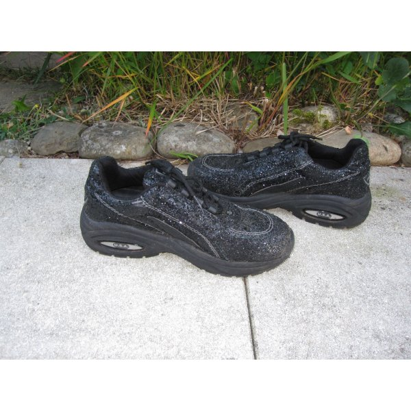 Schwarze Glitzer Chunky Sneaker   *Original USA CRISS CROSS*   Super bequem