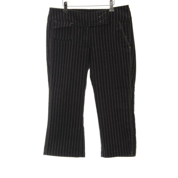 XX BY MEXX 3/4 Jeans weiß-taupe Nadelstreifen Business-Look