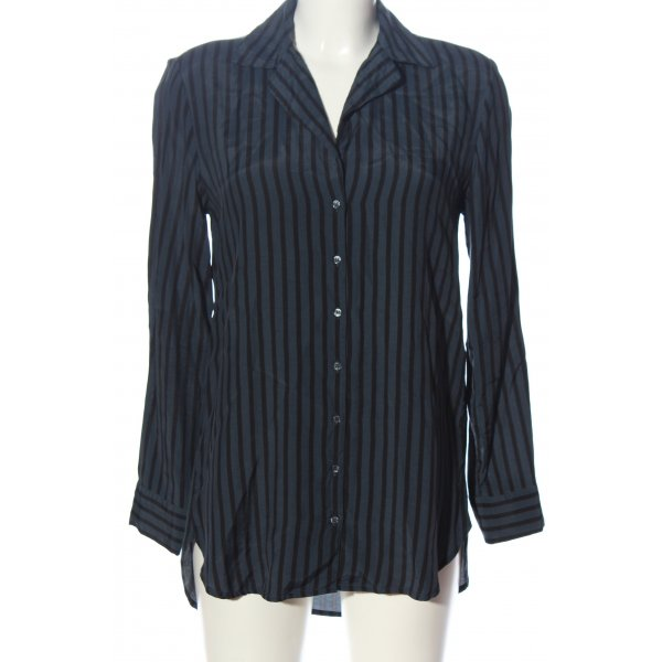 YAYAWoman Hemd-Bluse hellgrau-schwarz Allover-Druck Business-Look