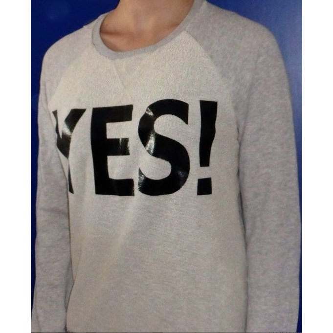 YES Pullover, Esprit, grau/weiß