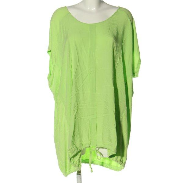Yesta Kurzarm-Bluse grün Casual-Look
