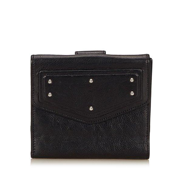 Yves Saint Laurent Portefeuille noir cuir