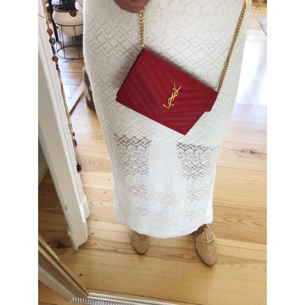 YSL Portemonnaie mit Kette in gold aus Leder mit Beleg!!