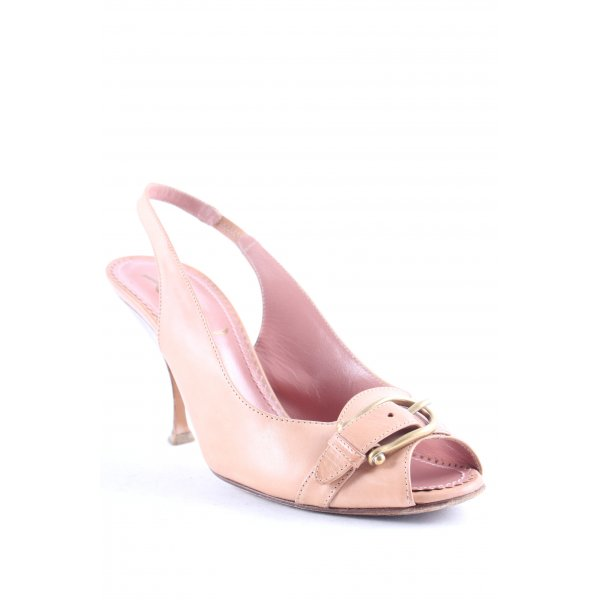 Yves Saint Laurent Peeptoe Pumps altrosa Elegant