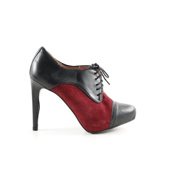 Zalando Collection Schnür-Stiefeletten rot-schwarz Elegant