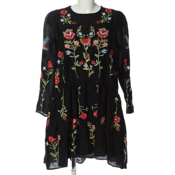 Zara A-Linien Kleid Allover-Druck Elegant