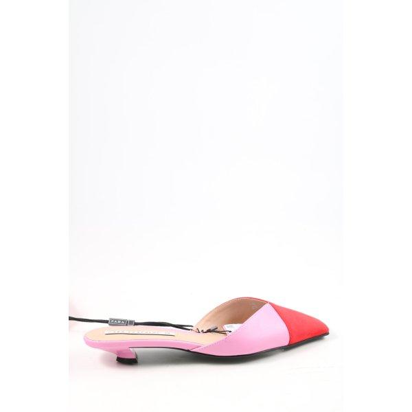 Zara Absatz Pantoletten pink-rot Elegant