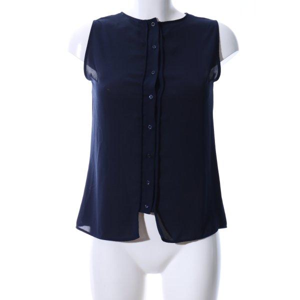 Zara Basic ärmellose Bluse blau Business-Look