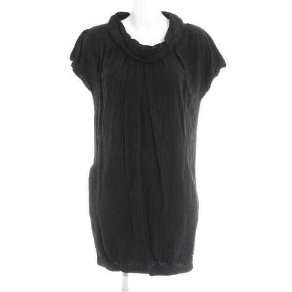 Zara Basic Ballonkleid schwarz Casual-Look