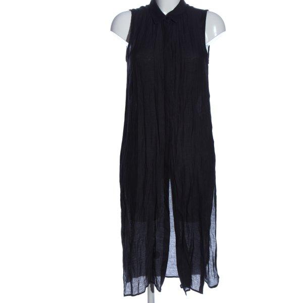 Zara Basic Blouse Jacket blue striped pattern casual look