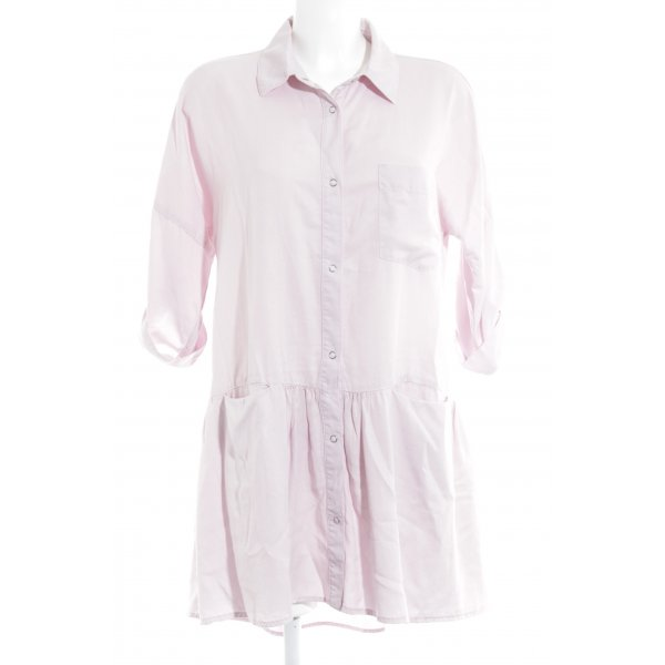 Zara Basic Blusenkleid hellrosa Casual-Look