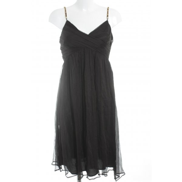 Zara Basic Chiffonkleid schwarz Elegant