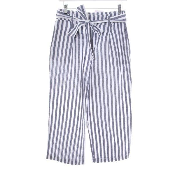 Zara Basic Culottes blau-weiß Streifenmuster Casual-Look