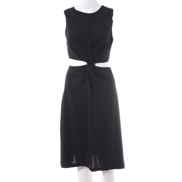 Zara Basic Cut-Out-Kleid schwarz Elegant