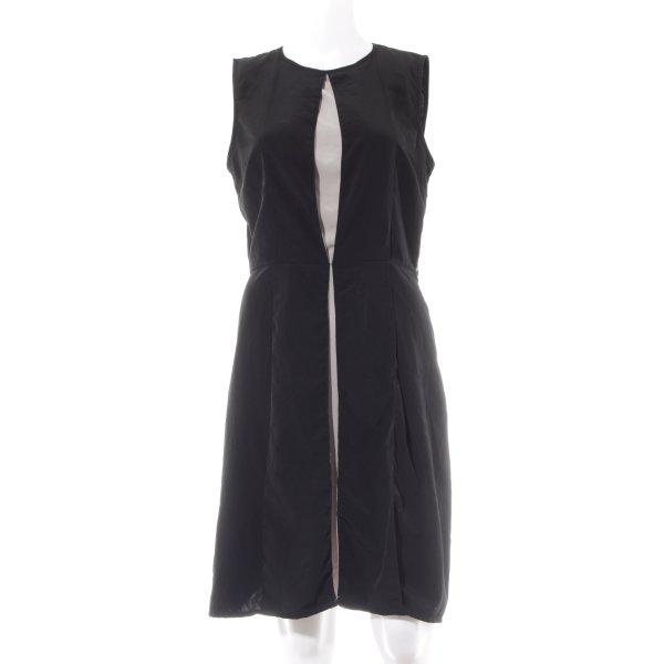 Zara Basic Etuikleid schwarz-creme Elegant