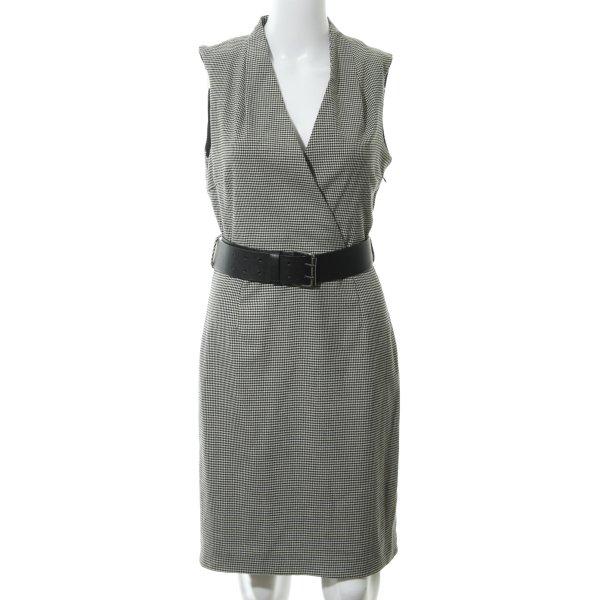 Zara Basic Etuikleid schwarz-wollweiß Hahnentrittmuster Elegant