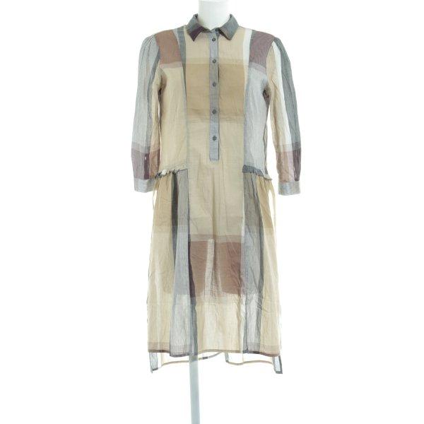 Zara Basic Hemdblusenkleid Colourblocking Country-Look