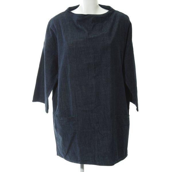 Zara Basic Jeanskleid dunkelblau Casual-Look