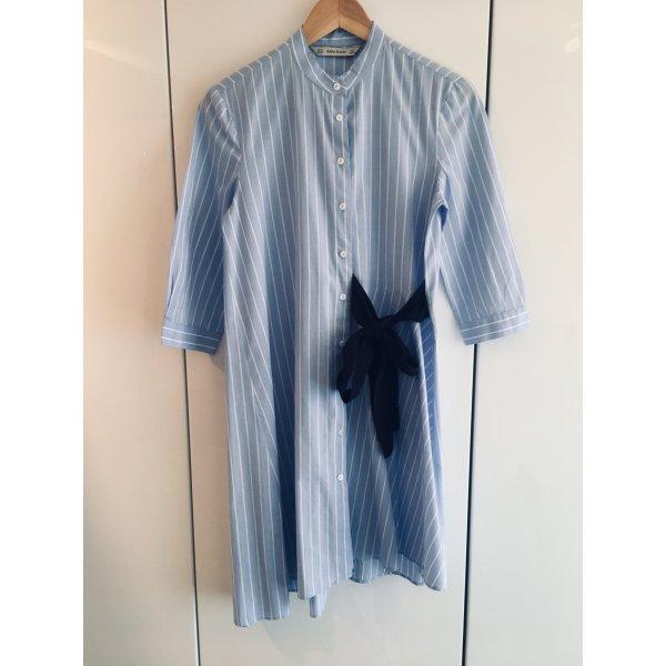 Zara Basic - Kleid mit Schleife aus reiner Baumwolle