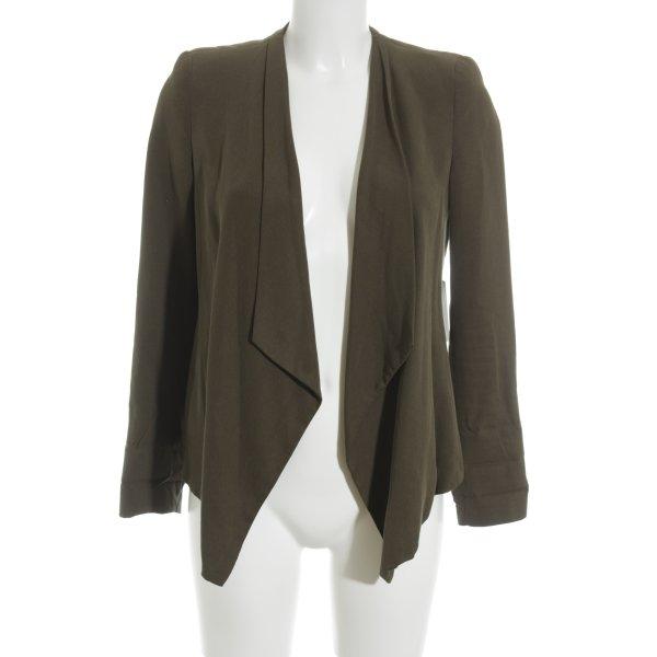 Zara Basic Kurz-Blazer khaki Business-Look