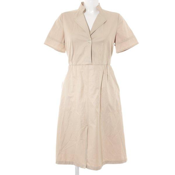 Zara Basic Kurzarmkleid beige 60ies-Stil