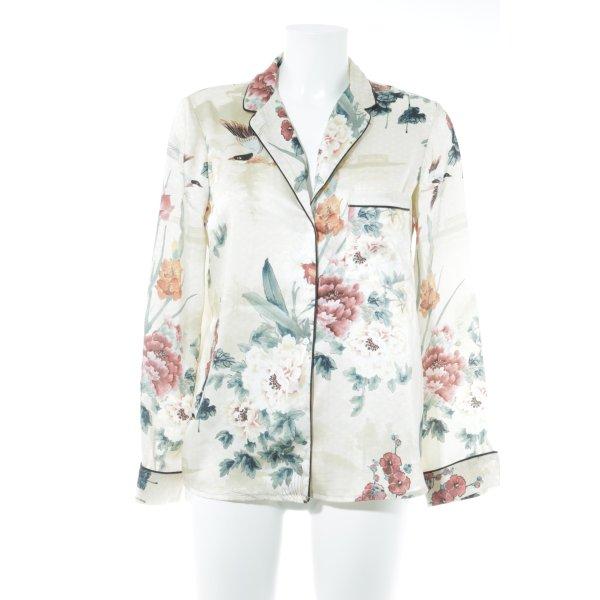 Zara Basic Langarm-Bluse Allover-Druck Street-Fashion-Look