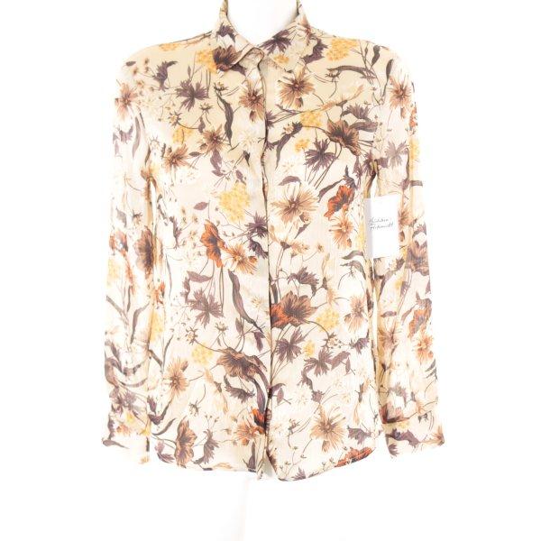 Zara Basic Langarm-Bluse mehrfarbig Elegant