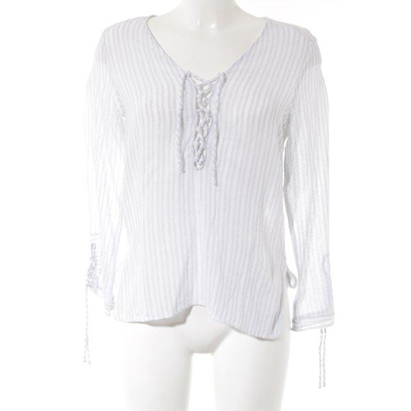 Zara Basic Langarm-Bluse Streifenmuster Casual-Look