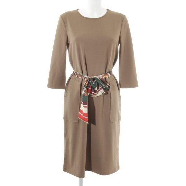 Zara Basic Langarmkleid hellbraun schlichter Stil