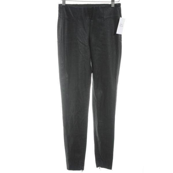 Zara Basic Lederhose schwarz Casual-Look