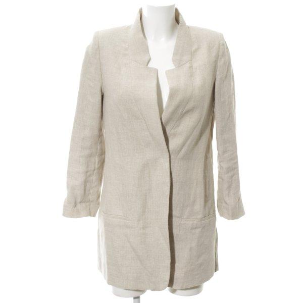 Zara Basic Long-Blazer hellgrau meliert Elegant