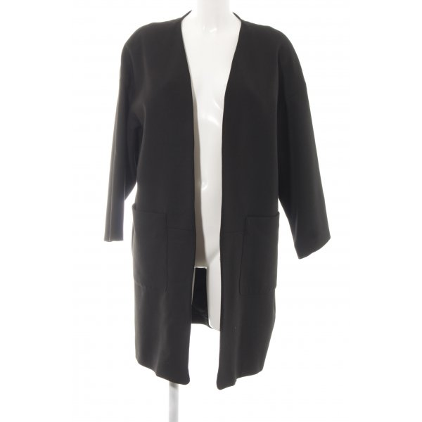 Zara Basic Long-Blazer schwarz Casual-Look