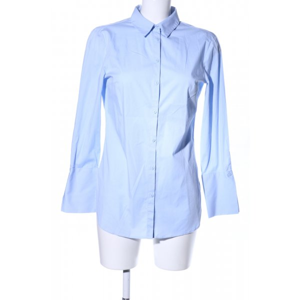 Zara Basic Long-Bluse blau Business-Look