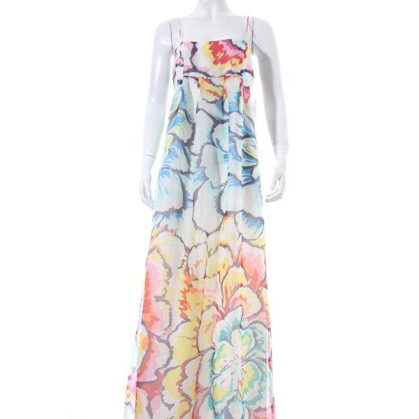 Zara Basic Maxikleid florales Muster Beach-Look