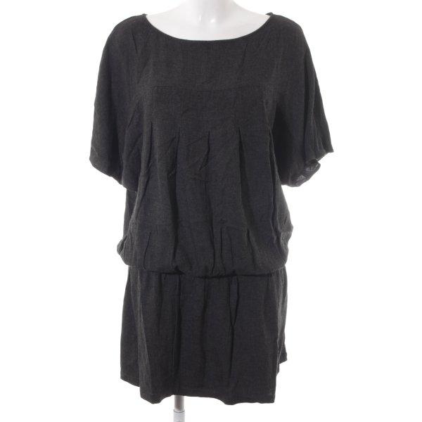 Zara Basic Minikleid dunkelgrau meliert Casual-Look