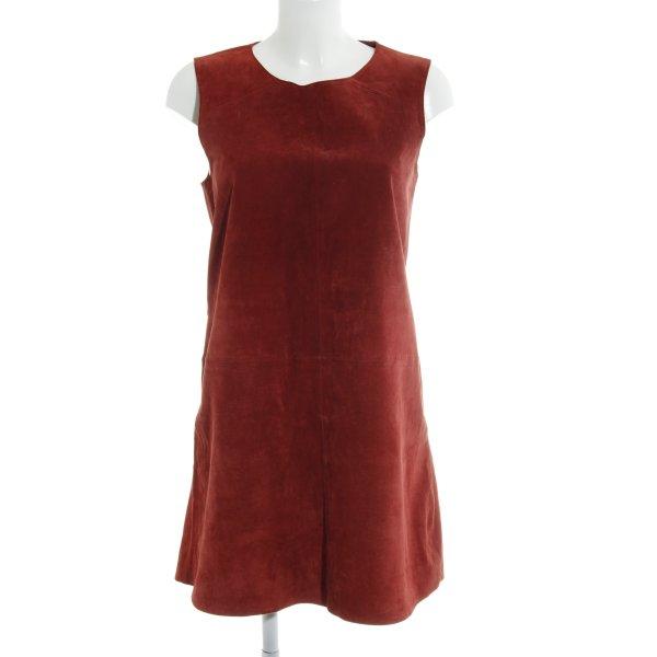 Zara Basic Minikleid rostrot Casual-Look