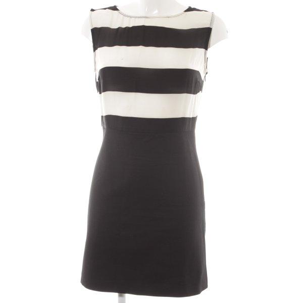 Zara Basic Minikleid schwarz-weiß Streifenmuster Elegant