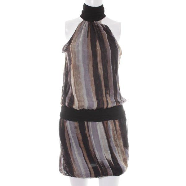 Zara Basic Neckholderkleid Farbtupfermuster Elegant