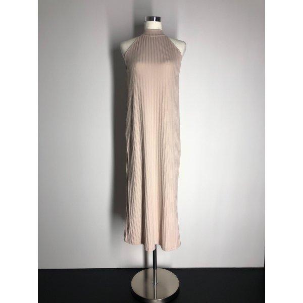 Zara Basic Neckholderkleid, nude