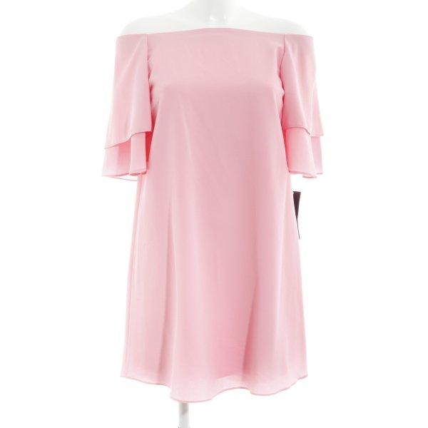 Zara Basic schulterfreies Kleid rosa Romantik-Look