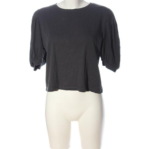 Zara Basic-Shirt hellgrau Casual-Look