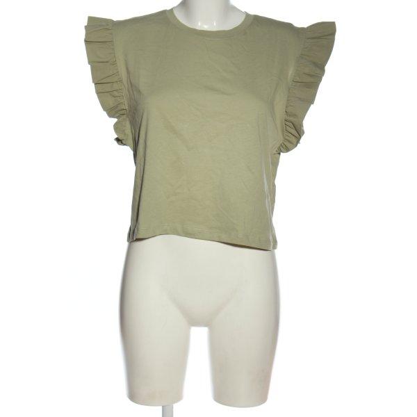 Zara Basic-Shirt khaki Casual-Look