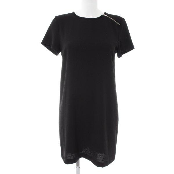 Zara Basic Shirtkleid schwarz Casual-Look