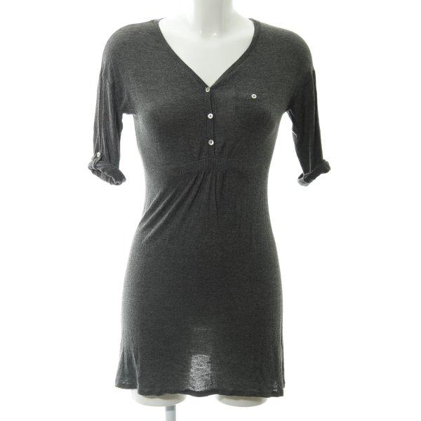 Zara Basic Stretchkleid anthrazit Casual-Look