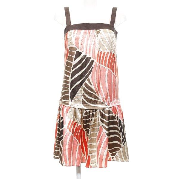 Zara Basic Trägerkleid abstraktes Muster Casual-Look