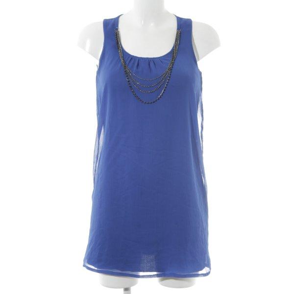 Zara Basic Trägerkleid blau Casual-Look