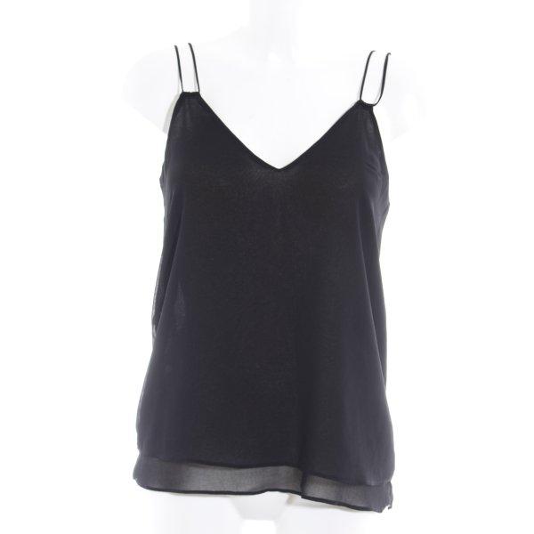 Zara Basic Trägertop schwarz Elegant